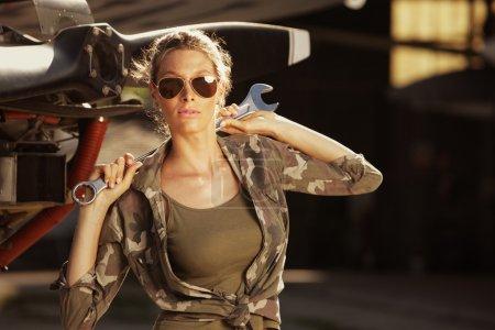 Fashion Female airplane mechanic