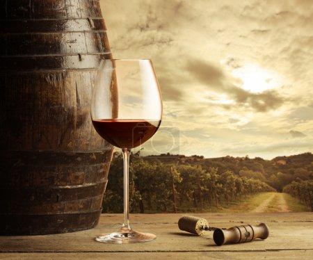 Red wine glass