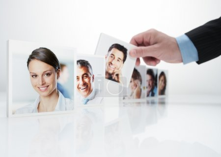 Human Resources concept, Portraits of a group of b...