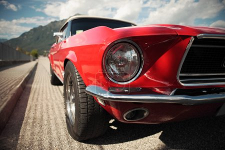 Photo for American muscle car convertible on the road, cropped image - Royalty Free Image