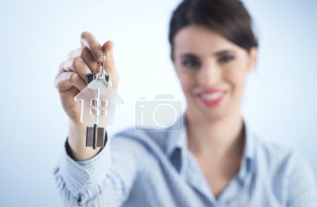 Holding out house keys