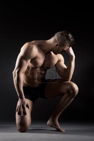 Body builder posing