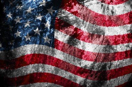 Photo pour Grunge drapeau des États-Unis - image libre de droit