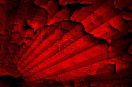Photo pour Grunge fond rouge avec motif rayé - image libre de droit