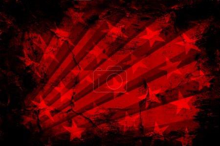 Photo pour Graphic Design (Fond Vintage) USA - image libre de droit