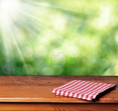 Photo for Empty wooden table ready for Your photomontage - Royalty Free Image