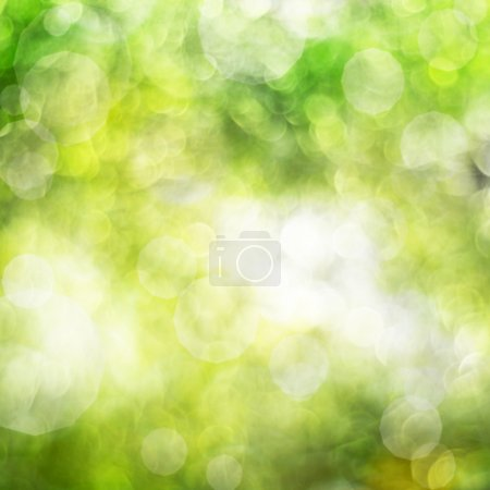 Photo for Abstract background green bokeh circles - Royalty Free Image