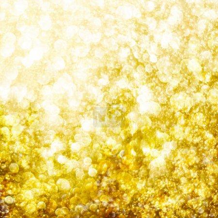 Golden defocused bokeh background