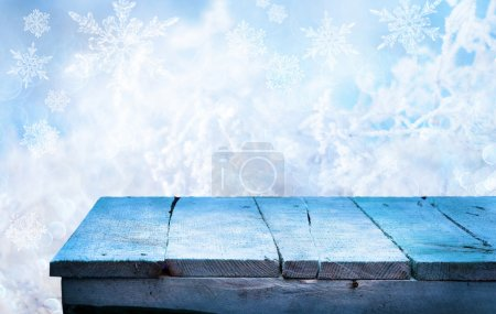 Photo for Empty wooden table for product display montages - Royalty Free Image