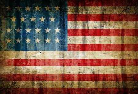 Photo pour Sale drapeau usa - image libre de droit