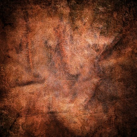 Photo for Dirty brown leather texture - Royalty Free Image