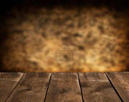 Empty wooden table for product display montages...