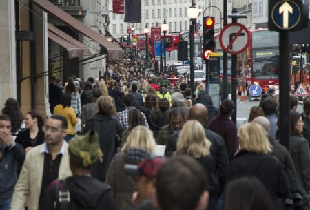 Photo for London Regent street full of people - Royalty Free Image