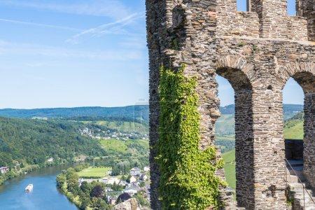Ruins of Grevenburg castle above Traben-Trarbach, German Mosel v