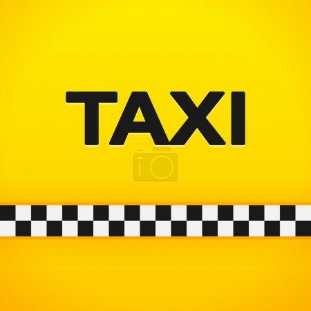 Illustration pour Symbole de taxi noir sur fond jaune vif et orange - image libre de droit