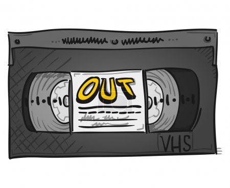 Old plastic VHS videotape for home records and mem...