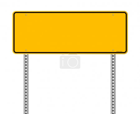 Illustration for Wide Yellow Sign isolated on white background - Royalty Free Image