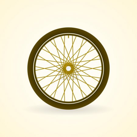 Bicycle wheel with rim and tire in pastel color to...