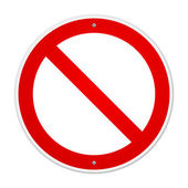 Prázdné zakázané znamení