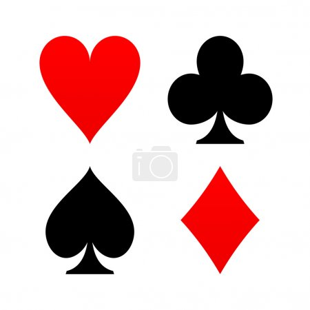 Illustration for Poker game symbols like diamond spade heart club - Royalty Free Image