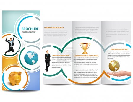 Illustration for Circle Brochure design - Royalty Free Image