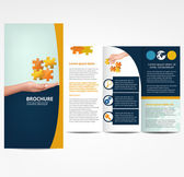 Brochure with Puzzle template