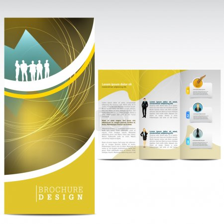 Illustration for Abstarct Business brochure - Royalty Free Image
