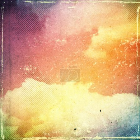 Photo for Grunge cloud background, vintage paper texture - Royalty Free Image