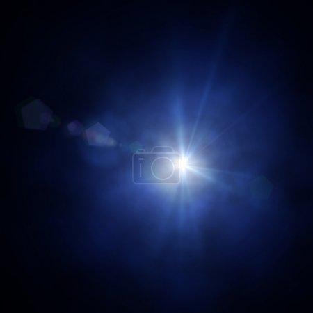 Photo pour Projecteur monofaisceau sur fond de smog - image libre de droit