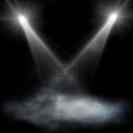 Black spotlight background