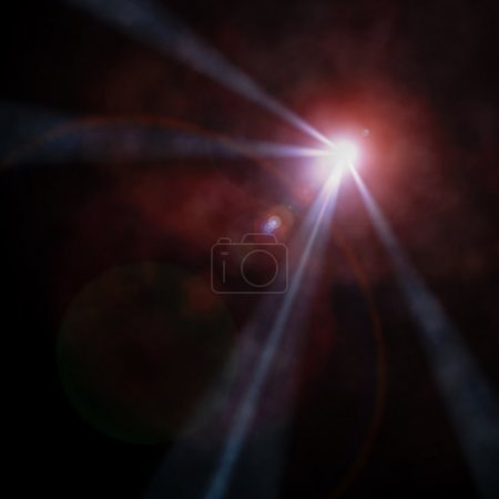 Photo pour Projecteur faisceau rose. Récapitulatif - image libre de droit