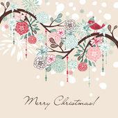 Floral Winter background