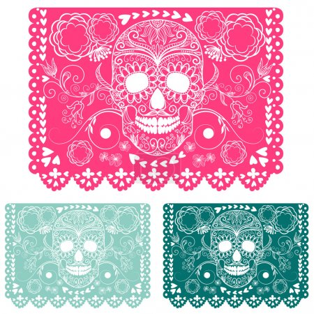 Day of the dead decoration. Papel Picado...