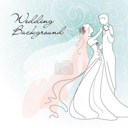 Illustration for Wedding Background - Royalty Free Image
