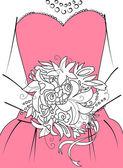 Bridesmaid with bouque