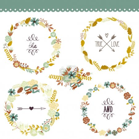 Autumn Floral Frame Collection