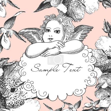 Illustration pour Ange Vintage - image libre de droit