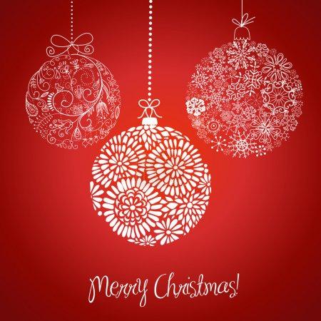 Christmas balls illustration.