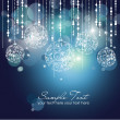 Blue Christmas Background with Christmas ornaments...