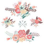 Bouquets retro flowers