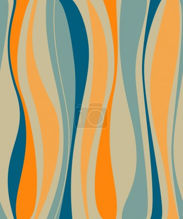 Illustration for 1970s retro background - Royalty Free Image