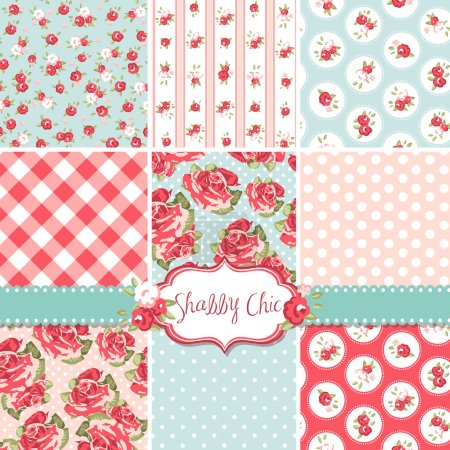Rose Patterns and seamless backgrounds