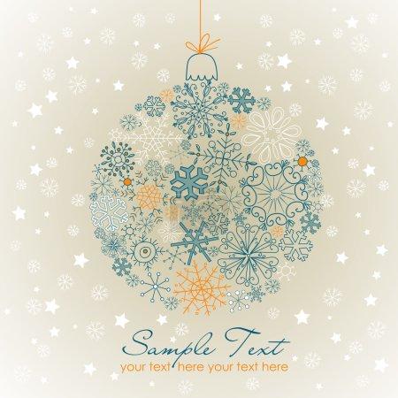 Christmas ball illustration.