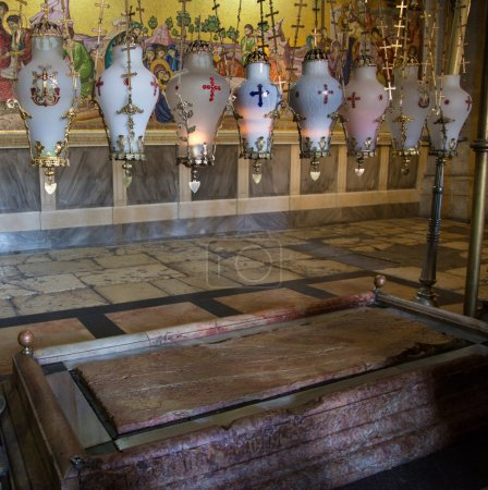 The Stone of Unction - Anointing in the Jesus Tomb