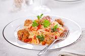 Italské těstoviny s karbanátky