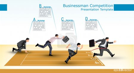 Presentation template of a business competition