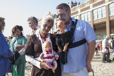 Asbury Park Zombie Walk 2013 - Zombie Family