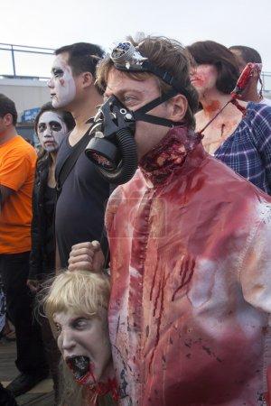 Asbury Park Zombie Walk 2013 - Gas Mask Zombie