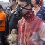 Постер, плакат: Asbury Park Zombie Walk 2013 Gas Mask Zombie