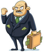 Cartoon illustration of angry mafia